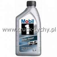 OLEJ 0W40 TURBO DIESEL 1 FULLY SYNTHETIC 1L MOBIL